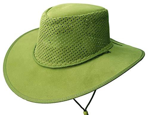 Chapeau d'été ultra léger avec bloc de chapeau perforé Kakadu Soaka - Vert - Large