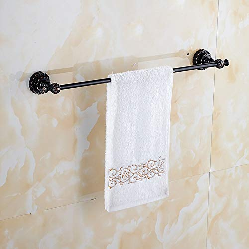 Estante de baño DKEE Sostenedor de la toalla montado en la pared 60cm / 23inches latón Industrial de la vendimia toalla de toallas bar antiguo con las tallas colgantes titular Albornoz percha retro pa