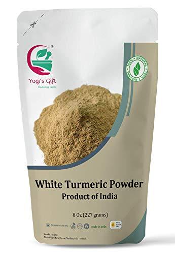 White turmeric powder for face & body   8 oz   No staining   aka Kapoor Kachri & Curcuma zeodaria  ...