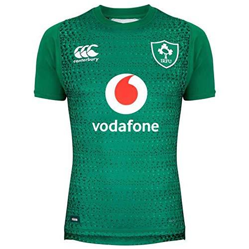Irland Weltcup Rugby-Trikots, Rugby 2019 Baumwolljersey-Grafik-T-Shirt, Heim- Und Auswärtswettbewerb-Training Football Jersey, Geschenk Für Einen Freund Home-S