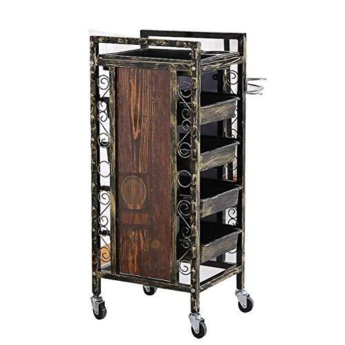 DANTB Beautiful Salon Trolley, Multifunction Tray Almacenamiento para el Cabello Peluquería Carrito de Belleza SPA Canasta con cajones