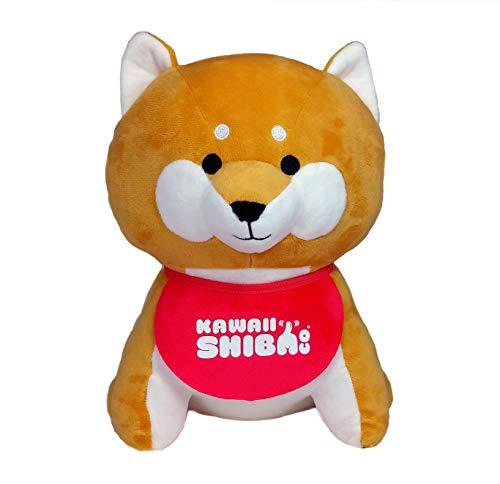 Kawaii Shiba Co. Shiba Inu Plush Doll with Bandana and Bag Set (Bandana)