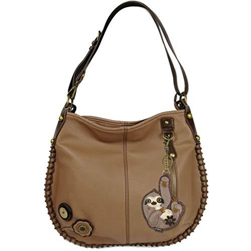 Chala Charming Hobo Style Crossbody Bag Shoulder or Crossbody -Brown (Sloth)