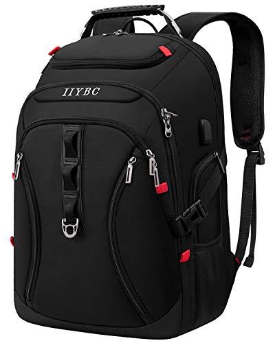 Reise Laptop Rucksack,17,3 Zoll Business Rucksack Herren,TSA Multifunktion Daypack Wasserdicht mit USB Ladeanschluss,Notebook Tasche für Männer Damen Schüler Teenager