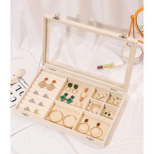 ABCSS Caja de joyería,Caja de Almacenamiento de joyería de Pendiente Exquisita y Simple,Gran Capacidad, Utilizada para aretes,Anillos,Gemelos
