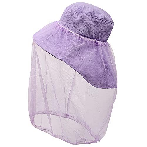 [Flammi (フレミ)] 虫除け ネット 付き帽子 つば広 (取り外し可能 あご紐 防虫ネット) 収納サック付き 紫外線対策 帽子 防虫 園芸 農作業 アウトドア