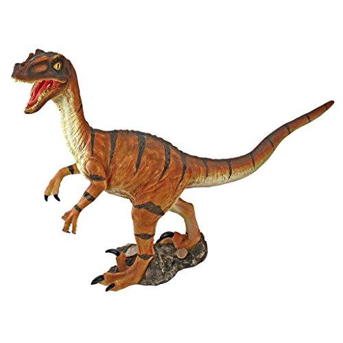Design Toscano JQ7803 Velociraptor Scaled Dinosaur Statue, Full Color