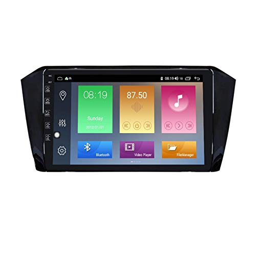 Android 10.0 Unidad principal estéreo para automóvil Compatible con Volkswagen Passat B8 2015-2018 Navegación GPS Pantalla táctil 9 pulgadas Reproductor multimedia MP5 Receptor video y radio con 4G