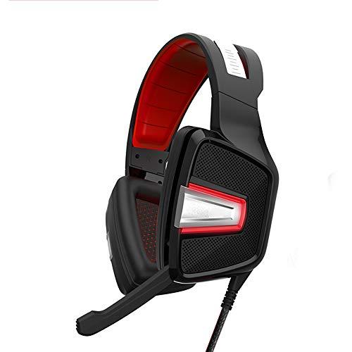 QNSQ Casque de Jeu avec Microphone à Haute sensibilité antibruit, Canal virtuel 7.1 intégré, Son Surround 360 ° et lumières RVB Respirantes-Black