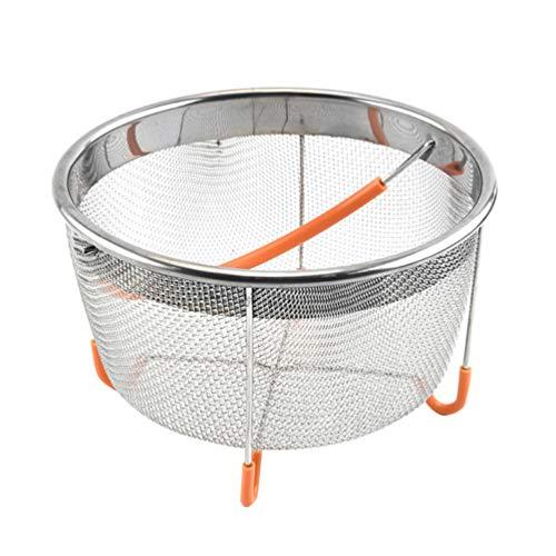 UPKOCH Edelstahl-Dampfkorb, Sieb mit Silikon-Griff für Sofort-Schnellkochtopf, Zubehör (zufällige Farbe)