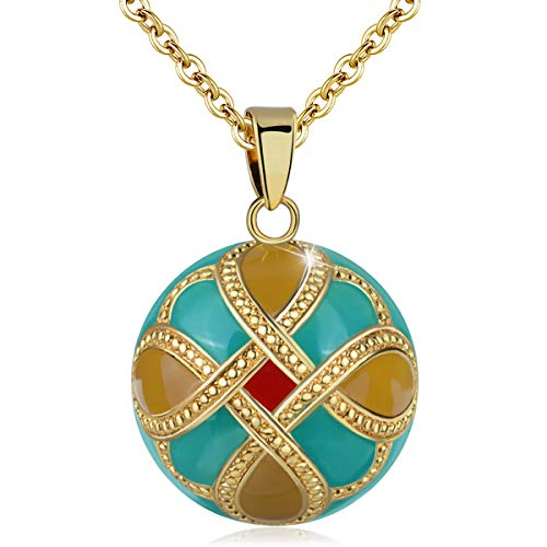 EUDORA Harmony Ball Necklace for Women Celtic Knot Pendant Music Chime Necklace Angel Caller Jewelry for Women Expectant Mothers, 30' and 45' Chain
