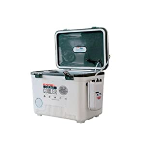 Engel Coolers Live Bait Cooler/Dry Box with Air Pump, White