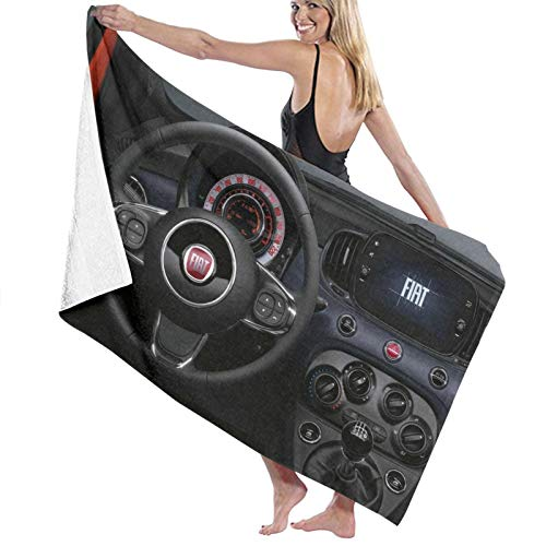Toalla de baño con logotipo de Fiat para coche, extra grande, de secado rápido, para ducha, natación, campamento, playa, grande, para baño
