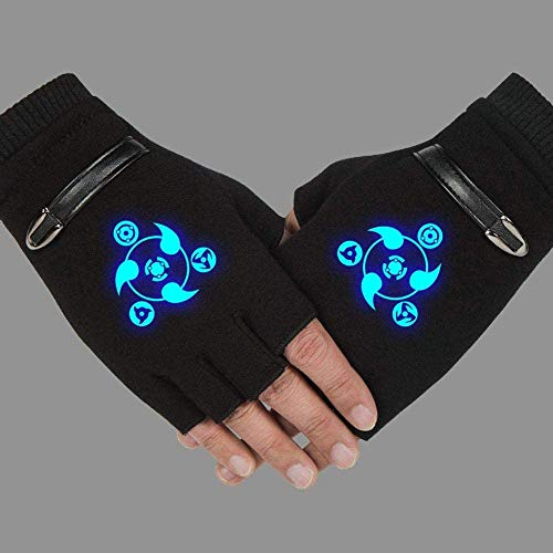 Guantes de algodón NXMRN, guantes sin dedos para hombres Naruto Anime sin...
