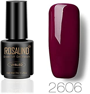 Rosalinda Gel Nail Polish Soak Off UV LED Esmalte Manicura Pedicura salón 7 ml (rojo 1)