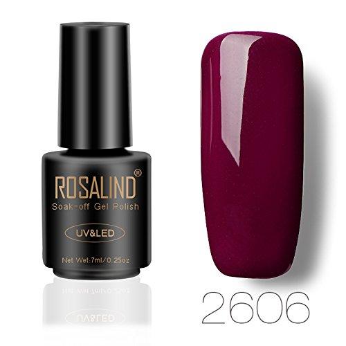 ROSALIND 7ml saugen UV-Nagel Gel polnischen Wein rote Sammlung Gel Lack Semi-permanentes Gel für Nagel Verlängerungen Maniküre Primer