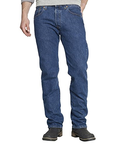 Levi's 501 Original Fit Jeans, Blu Stonewash, 38W / 36L Uomo