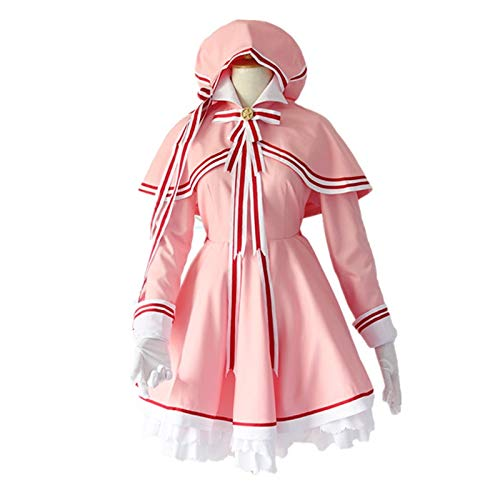 Tarjeta Captor Sakura Tarjeta Clara Kinomoto Sakura Cosplay Disfraz Cardcaptor Uniforme Mujer Halloween Fiesta Vestido