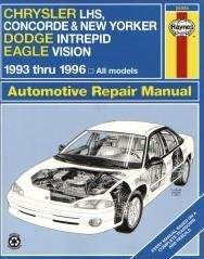 Chrysler LH Series Automotive Repair Manual: Models Covered: Chrysler New Yorker, LHS and Concorde, Dodge…
