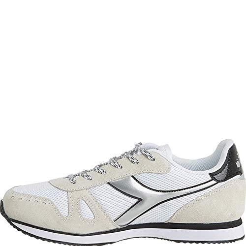 Diadora Simple Run Wn, Scarpe da Fitness Donna, Bianco (White/Black C0351), 36 EU
