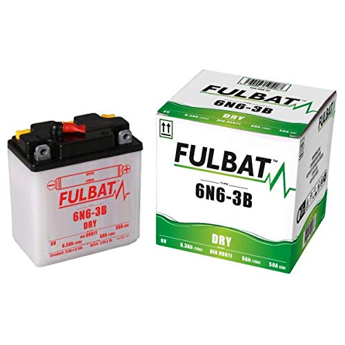 Batería fulbat 6N6-3B-1 Dry Incluye Acid Pack