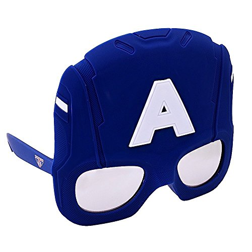 Costume Sunglasses Large Captain America Sun-Staches Party Favors UV400