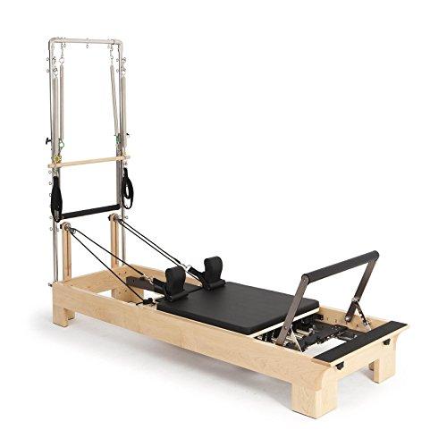 Elina Pilates Reformer Trainingsgerät aus Holz, mit Turm