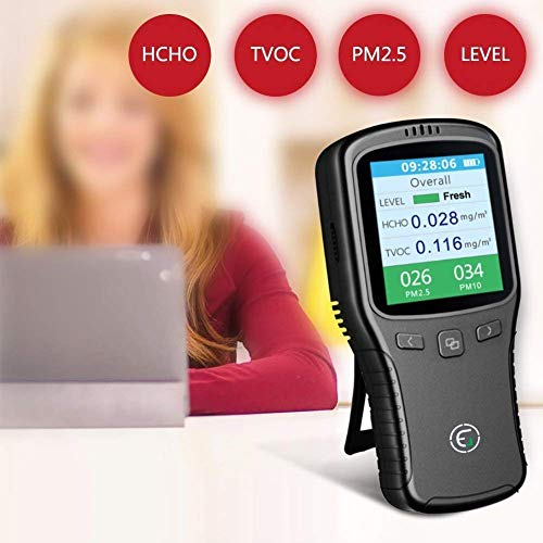6 IN 1 Formaldehyd Detektor HCHO TVOC PM2.5 PM10 AQI Temp Luftqualität Monitor