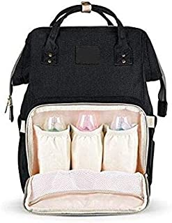 Fashion Mummy Maternity Nappy bag Nursing bag For Baby Care-Black