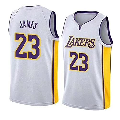 AKEFG Uniformes De Baloncesto, Los Ángeles # 23 James Bordado Malla Transpirable Resistente Al Desgaste Camiseta De Aficionado Al Baloncesto