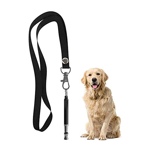 LUOWAN Dog Whistle, Professional Ultrasonic Dog Whistle to Stop Barking, Silent Dog Training Whistle with Adjustable Frequencies for Recall Training