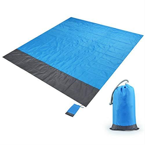 Anlixin Picknickdecke - Stranddecke wasserdichte - Leichte Faltbar Pocket Blanket - Outdoordecke Campingdecke Mit 4 Nägeln, für Wandern, Outdoor, Wiese, Strand, Reisen. …