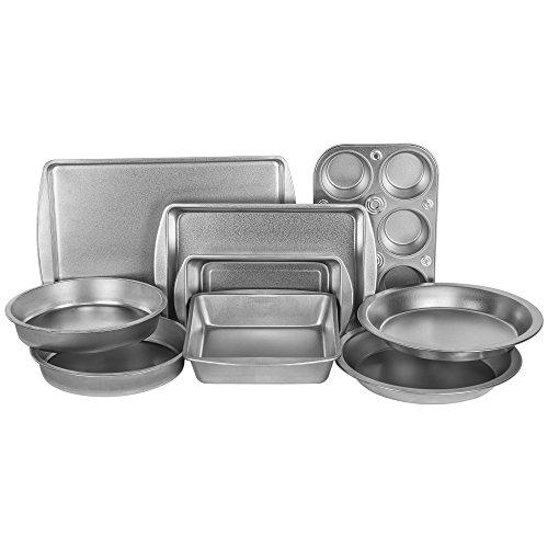 G & S Metal Products Company EZ Baker Steel Bakeware, Set of 9, Gray