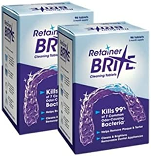 Retainer Brite -6 Months Supply- 2 Boxes Pack -192 Tablets