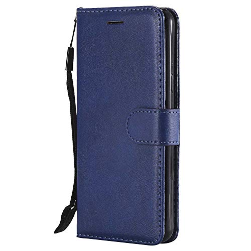 DENDICO Cover Galaxy A5 2016, Premium Portafoglio PU Custodia in Pelle, Flip Libro TPU Bumper Caso per Samsung Galaxy A5 2016 - Blu Navy
