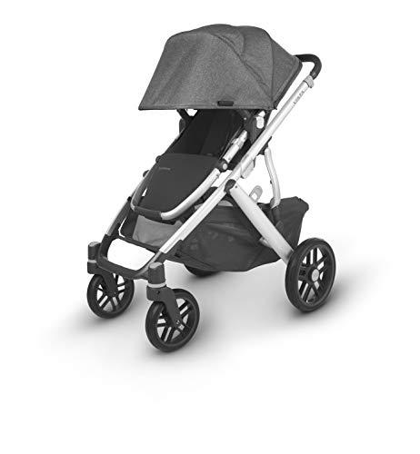 UPPAbaby VISTA V2 Stroller - JORDAN (charcoal/silver/black leather)
