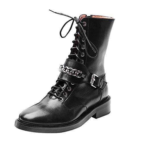 Why Choose ZOMUSAR Women's Shoes, Women's Ladies Leather Knight Boots Zipper Motorcycle Boots Casual...