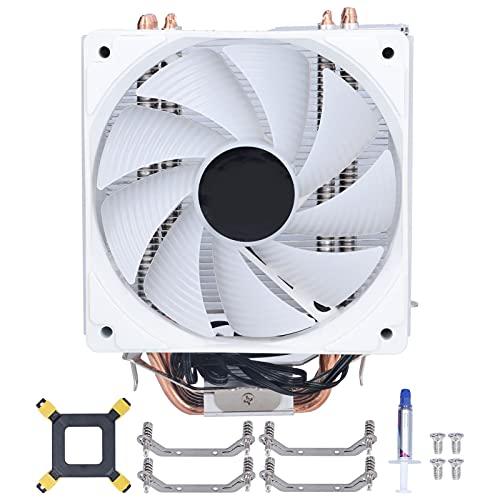 Enfriador de Aire de CPU con 6 heatpipes, radiador de Ventilador de enfriamiento de CPU de computadora de 120 mm y 12 V CC para refrigeración de CPU de Placa Base Intel y AMD
