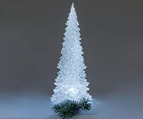 Formano Deko Baum 'Pyramide' mit LED-Licht, 32 cm, weiß