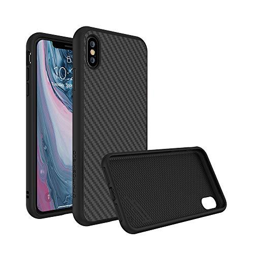 RhinoShield Coque Compatible avec [iPhone X] | SolidSuit - Housse Fine avec Technologie Absorption des Chocs & Finition Premium - Finition Fibre de Carbone