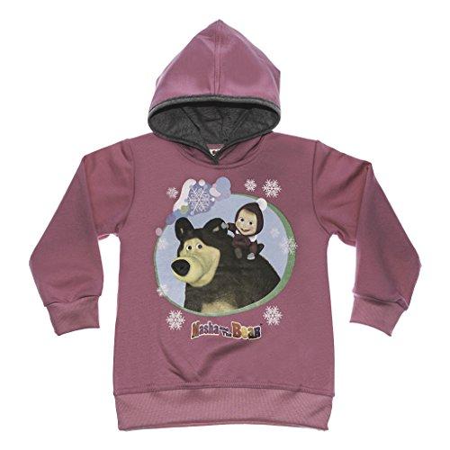 Kleines Kleid Masha And The Bear - Maglione con Cappuccio Masha And The Bear, Taglia 92, 98, 104, 110, 116, 122 Multicolore 104 cm
