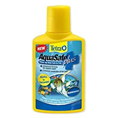 Aquasafe neutralizes harmful chlorine, chloramines and heavy metals in tap water and adds a protective slime coating. Aquasafe 1.69 OUNCE