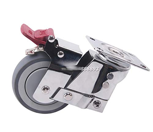 Ruedas Rueda universal de amortiguación silenciosa con resorte, rueda tpr anti-sísmica, para equipos pesados, puerta, ruedas industriales Reemplazo de ruedas giratorias de estilo