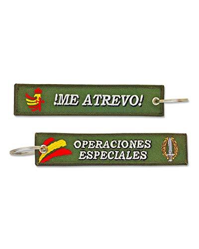 Llavero Bordado Ejército de Tierra Me Atrevo Operaciones Especiales Militares Fuerzas Armadas Españolas
