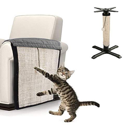 Relax love Rascador para Gatos,Protector de Muebles Gatos,Afilador de uñas de sisal 42 x 30 cm para Protector Esquina de sofá o sillón