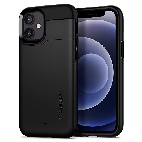 Spigen Funda Slim Armor CS Compatible con iPhone 12 Mini - Negro