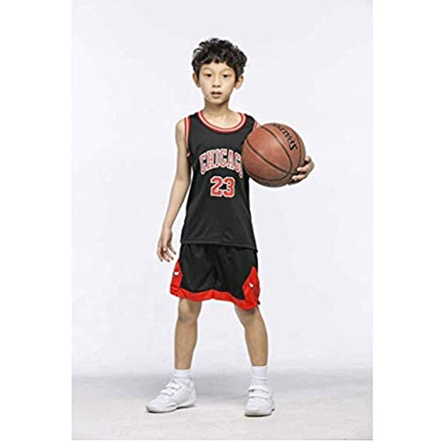 Foairs Conjunto De Camisetas De Baloncesto para NiñOs - Bulls Jordan # 23 / Lakers James # 23 / Warriors Curry # 30 Transpirable Chaleco Top Shorts De Verano para NiñOs Y NiñAs Talla (XS-XXXL)