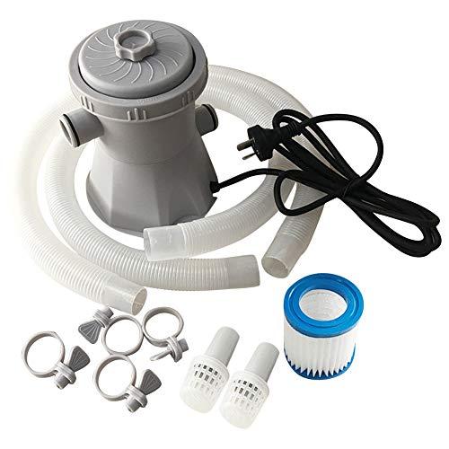 Bomba de filtro de piscina, Bomba de filtro de piscina eléctrica Sistema de limpieza de agua para piscina sobre el suelo 300 galones, bañera de hidromasaje Bomba de agua de filtro de circulación