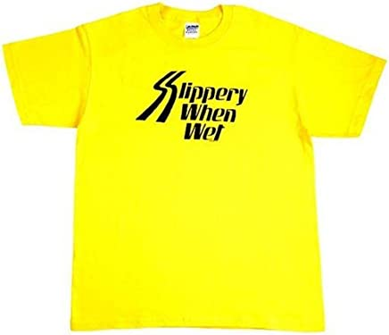 Slippery When Wet(Tシャツ)(イエロー)(XLサイズ)(HWZCB-04744)