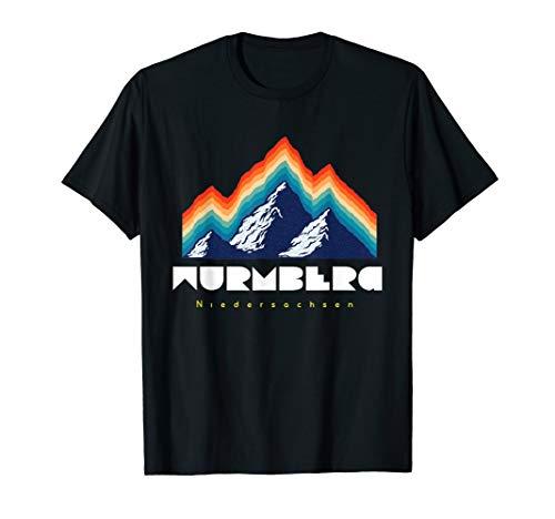 Wurmberg Niedersachsen - Deutschland Retro 80s Ski Geschenk T-Shirt